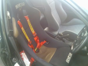 new sparco driver seat