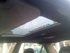 new sun roof view from inside