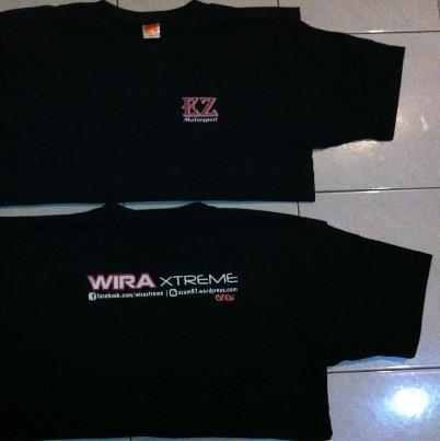 Baju t-shirt wira xtreme ez motorsport eksklusif